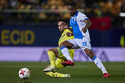 January 10, 2018 - Vila-Real, Castellon, Spain - Beauvue (R) of CD Leganes competes for the ball with Victor Ruiz of Villarreal CF during the Copa del Rey Round of 16, second leg game between Villarreal CF and CD Leganes on January 10, 2018 in Vila-real, Spain  (Credit Image: © David Aliaga/NurPhoto via ZUMA Press)