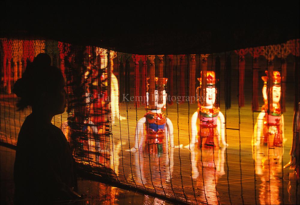 Traditional water puppet theatre in Hanoi, Vietnam