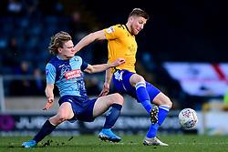 Alfie Kilgour of Bristol Rovers is challenged by Alex Samuel of Wycombe Wanderers - Mandatory by-line: Ryan Hiscott/JMP - 08/02/2020 - FOOTBALL - Adam's Park - High Wycombe, England - Wycombe Wanderers v Bristol Rovers - Sky Bet League One