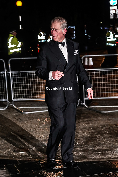 Prince Charles and Camilla attend the Royal Variety Performance 2016 at Hammersmith Eventim Tuesday 6th December 2016, London,UK. Photo by See Li