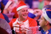 Darts fan in his Christmas outfit, fancy dress, during the Darts World Championship 2018 at Alexandra Palace, London, United Kingdom on 18 December 2018.