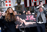 Wendy Williams and Dan Matthews appear to unveil PETA Campaign poster in Times Square in New York City, New York on November 28, 2012. Photo by Donna Ward/ABACAUSA.COM