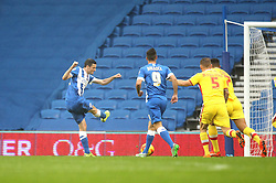 Jamie Murphy of Brighton & Hove Albion scores his sides second goal - Mandatory byline: Robbie Stephenson/JMP - 07966 386802 - 07/11/2015 - FOOTBALL - Falmer Stadium - Brighton, England - Brighton v MK Dons - Sky Bet Championship