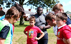 Biyi Alo of Worcester Warriors leads a coaching session as Worcester Warriors host a summer holiday rugby camp at Malvern College - Mandatory by-line: Robbie Stephenson/JMP - 16/08/2017 - RUGBY - Malvern College - Worcester, England - Worcester Warriors - Malvern Rugby Camp