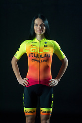 Ursa Pintar of Alé BTC Ljubljana, professional women cycling team, on November 15, 2019 in Ljubljana, Slovenia. Photo by Sportida