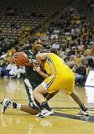 January 27 2010: Michigan St. forward Cetera Washington (15) and Iowa forward Kalli Hansen (3) battle for a lose ball during the second half of an NCAA women's college basketball game at Carver-Hawkeye Arena in Iowa City, Iowa on January 27, 2010. Iowa defeated Michigan State 66-64.