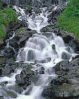 Horsetail Falls in Keystone Canyon along the Richardson Highway near Valdez Alaska