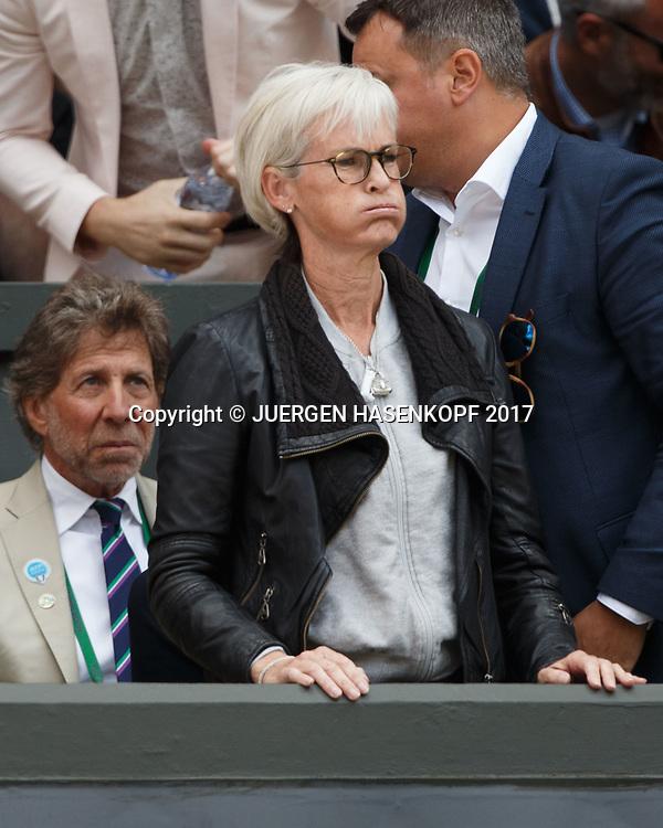 ANDY MURRAY Team, Mutter Judy Murray reagiert enttaeuscht in der Spieler Loge,Emotion,<br /> <br /> Tennis - Wimbledon 2017 - Grand Slam ITF / ATP / WTA -  AELTC - London -  - Great Britain  - 12 July 2017.