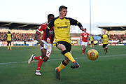 Burton Albion midfielder Jamie Allen (4) controls the ball during the EFL Sky Bet Championship match between Burton Albion and Nottingham Forest at the Pirelli Stadium, Burton upon Trent, England on 17 February 2018. Picture by Richard Holmes.