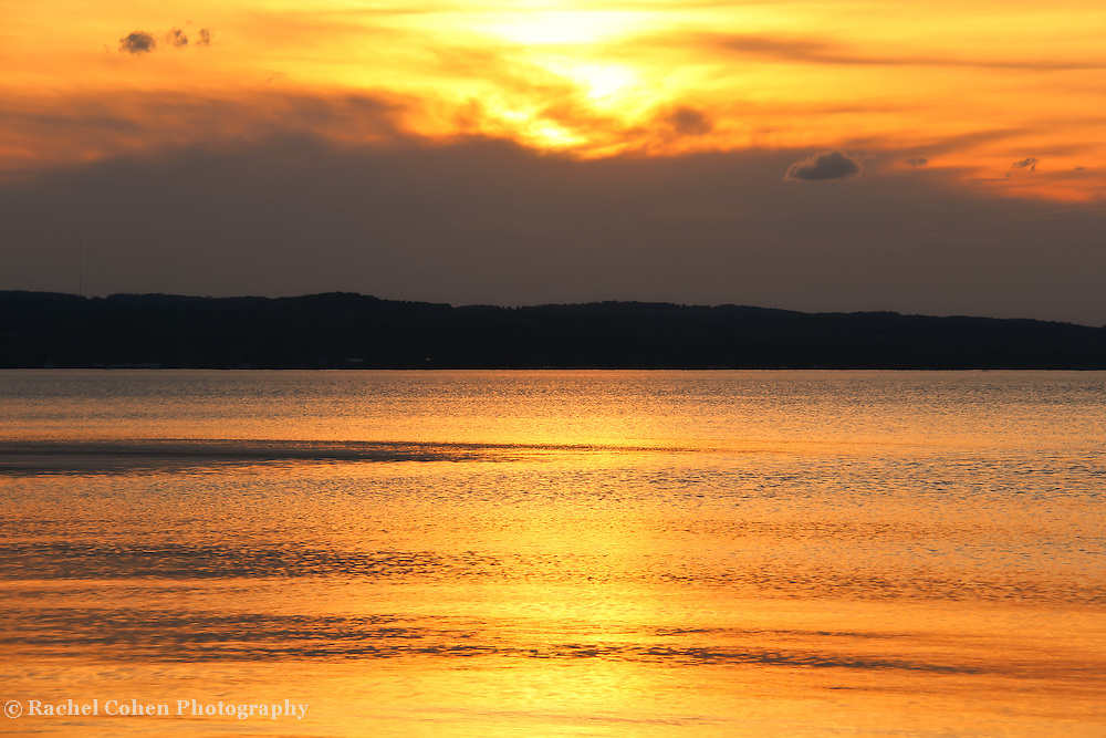 &quot;Shimmer and Glow&quot;<br /> <br /> Shimmering golden sunset over water!<br /> <br /> Sunset Images by Rachel Cohen
