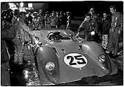 Sebring 12-Hour race  &bull;  March 22, 1969  &bull;  3000cc  V12<br /> #25 Ferrari 312P &gt; Mario Andretti/Chris Amon - finished 2nd  &bull;  Pedro Rodriquez (DNF) at far right watches; Chris Amon to left