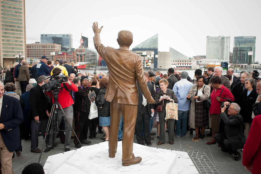 Unvieling of William Donald Schaefer Sculpture at Baltimore Inner Harbor