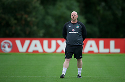 CARDIFF, WALES - Monday, August 13, 2012: Wales' John Hartson during a training session at the Vale of Glamorgan ahead of the international friendly match against Bosnia-Herzegovina. (Pic by David Rawcliffe/Propaganda)