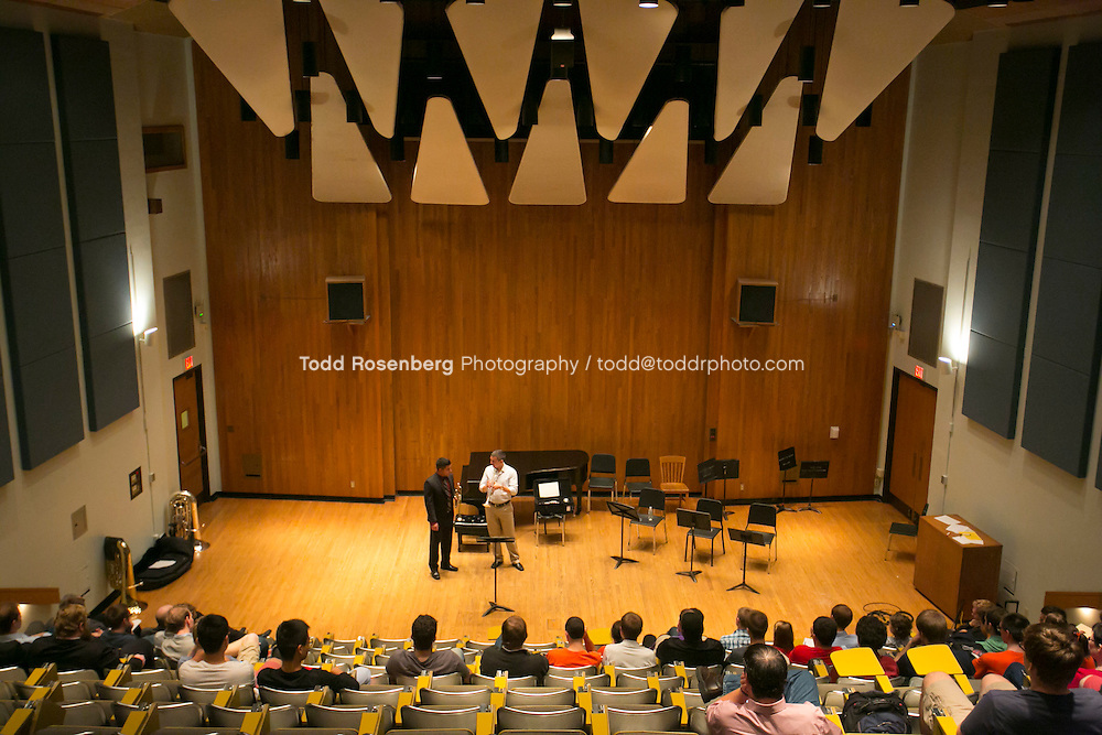 10/12/13 4:19:06 PM Chicago Symphony Orchestra Master classes at the University of Illinois in Champaign, Urbana. <br /> <br />  &copy; Todd Rosenberg Photography 2013