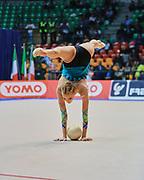 Nicole Ruprecht atleta della società Polimnia Ritmica Romana durante la seconda prova del Campionato Italiano di Ginnastica Ritmica.<br /> La gara si è svolta a Desio il 31 ottobre 2015.<br /> Nicole è una ginnasta di origini austriache nata nel 1992.