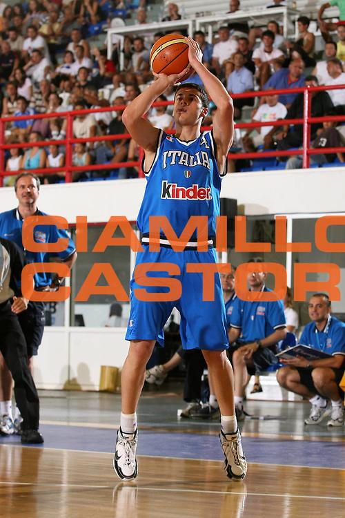 DESCRIZIONE : Amaliada Grecia Campionati Europei Under 18 European Championship Under 18 UMCOR<br /> GIOCATORE : D'Ercole<br /> SQUADRA : Italy Italia<br /> EVENTO : Amaliada Grecia Campionati Europei Under 18 European Championship Under 18 UMCOR<br /> GARA : Italia Italy Grecia Greece<br /> DATA : 22/07/2006 <br /> CATEGORIA : <br /> SPORT : Pallacanestro <br /> AUTORE : Agenzia Ciamillo-Castoria/E.Castoria<br /> Galleria : FIP Nazionale Italiana<br /> Fotonotizia : Amaliada Grecia Campionati Europei Under 18 European Championship Under 18 UMCOR<br /> Predefinita :