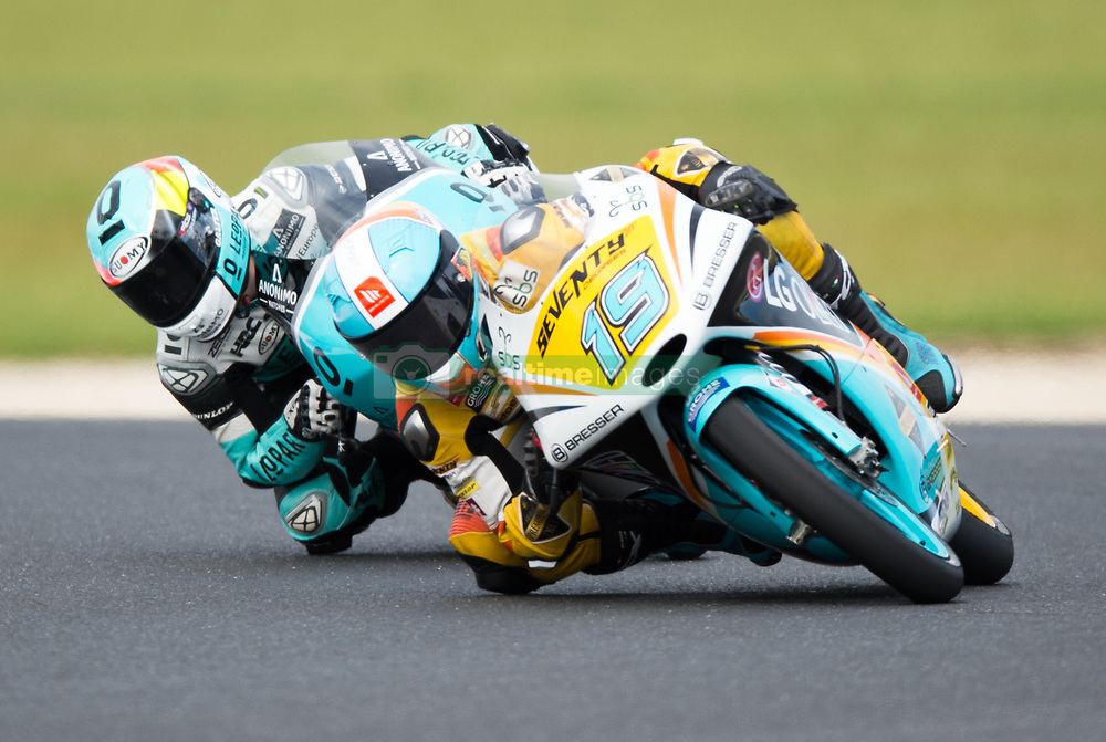 October 21, 2017 - Melbourne, Victoria, Australia - Argentinian rider Gabriel Rodrigo (#19) of RBA BOE Racing Team in action during the third free practice session at the 2017 Australian MotoGP at Phillip Island, Australia. (Credit Image: © Theo Karanikos via ZUMA Wire)