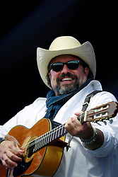 03 May 2013. New Orleans, Louisiana,  USA. .New Orleans Jazz and Heritage Festival. .Raul Malo of the Mavericks plays the Gentilly stage..Photo; Charlie Varley.