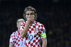 October 9, 2017 - Kiev, Ukraine - Croatia's Luka Modric during the World Cup Group I qualifying soccer match between Ukraine and Croatia at the Olympic Stadium in Kiev. Ukraine, Monday, October 9, 2017  (Credit Image: © Danil Shamkin/NurPhoto via ZUMA Press)