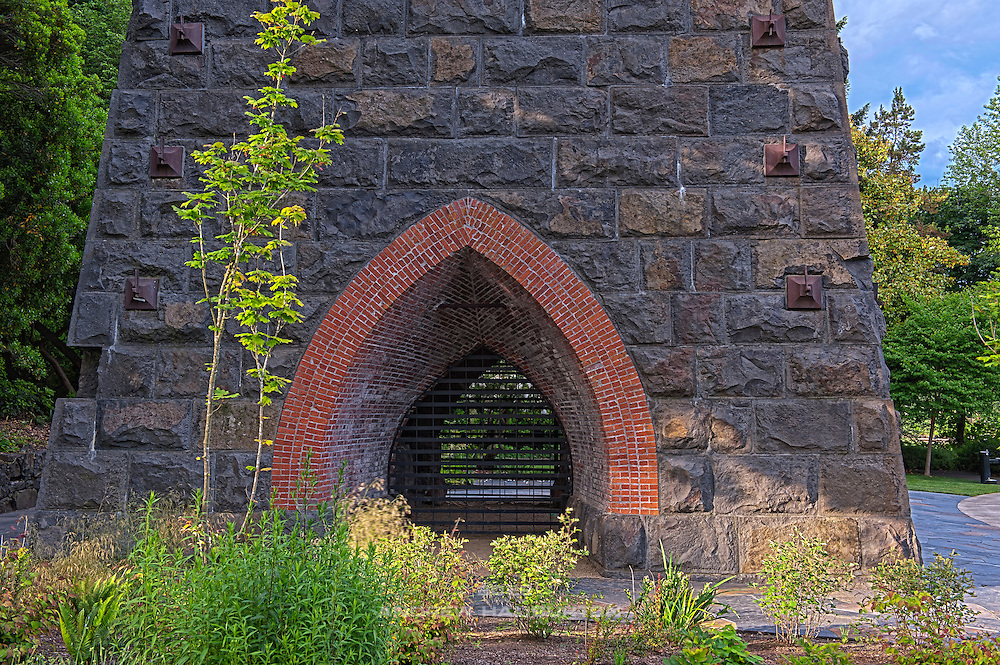 The 1867 blast furnace chimney is now the centerpiece of Lake Oswego's George Rogers Park along the Willamette River. It was placed on the National Register of Historic Places in 1974.  A seven-year restoration of the iron smelter stack was completed in 2011.