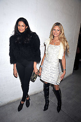 Left to right, SALONI LODHA and FRANKIE JOHN at the Prada Congo Art Party hosted by Miuccia Prada and Larry Gagosian at The Double Club, 7 Torrens Street, London EC1 on 10th February 2009.