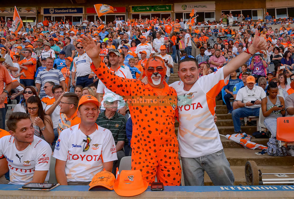 Cheetah supporters during the Currie Cup Final between the The Free State Cheetahs and Blue Bulls held at Toyota Stadium (Free State Stadium), Bloemfontein, South Africa on the 22nd October 2016<br /> <br /> Photo by:   Frikkie Kapp / Real Time Images