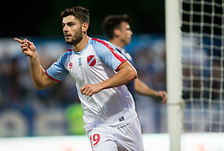 Giorgos Masouras of Panionios GSS celebrates after scoring first goal for Panionios during 2nd Leg football match between ND Gorica (SLO) and Panionios GSS (GRE) in 2nd Qualifying Round of UEFA Europa League 2017/18, on July 20, 2017 in Nova Gorica, Slovenia. Photo by Vid Ponikvar / Sportida