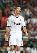 Cristiano Ronaldo of Real Madrid.  Barcelona v Real Madrid, Supercopa first leg, Camp Nou, Barcelona, 23rd August 2012...Credit - Eoin Mundow/Cleva Media.