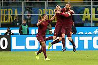 26.02.2016 - Milano  Serie A 2016/17 - 26a   giornata  -  Inter-Roma  nella  foto: Radja Nainggolan esulta dopo il gol dell' 1 a 0