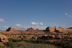 Wooden Shoe Arch Overlook, The Needles District of Canyonlands National Park, south of Moab, Utah.