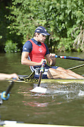 Henley, GREAT BRITAIN.  Diamond Challenge Sculls.  Graeme THOMAS GBR M1X., at the start of his Saturday heat.  2012 Henley Royal Regatta.  ..Saturday  11:19:46  30/06/2012. [Mandatory Credit, Peter Spurrier/Intersport-images]...Rowing Courses, Henley Reach, Henley, ENGLAND . HRR.