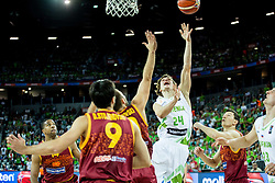 Jaka Klobucar of Slovenia during basketball match between Slovenia and Macedonia at Day 6 in Group C of FIBA Europe Eurobasket 2015, on September 10, 2015, in Arena Zagreb, Croatia. Photo by Vid Ponikvar / Sportida