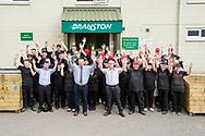 Branston Potatoes staff photograph, Abernethy, Scotland