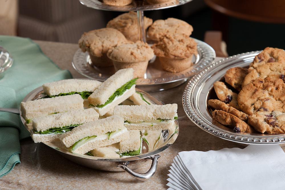Food platters on table