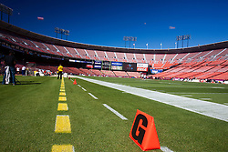 October 10, 2010; San Francisco, CA, USA;  General view of the interior of Candlestick Park before the game between the San Francisco 49ers and the Philadelphia Eagles.