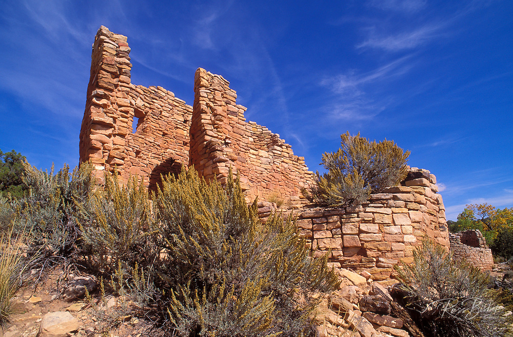 Double walled kiva at Cutthroat Castle Ruins, Hovenweep National Monument, Colorado USA