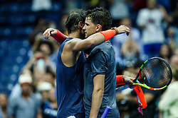 September 5, 2018 - Flushing Meadow, NY, U.S. - FLUSHING MEADOW, NY - SEPTEMBER 04: RAFAEL NADAL (ESP) and DOMINIC THIEM (AUT) day nine of the 2018 US Open on September 04, 2018, at Billie Jean King National Tennis Center in Flushing Meadow, NY. (Photo by Chaz Niell/Icon Sportswire) (Credit Image: © Chaz Niell/Icon SMI via ZUMA Press)