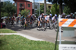 The reaches the middle of the fourth, 70 km road race stage of the Amgen Tour of California - a stage race in California, United States on May 22, 2016 in Sacramento, CA.