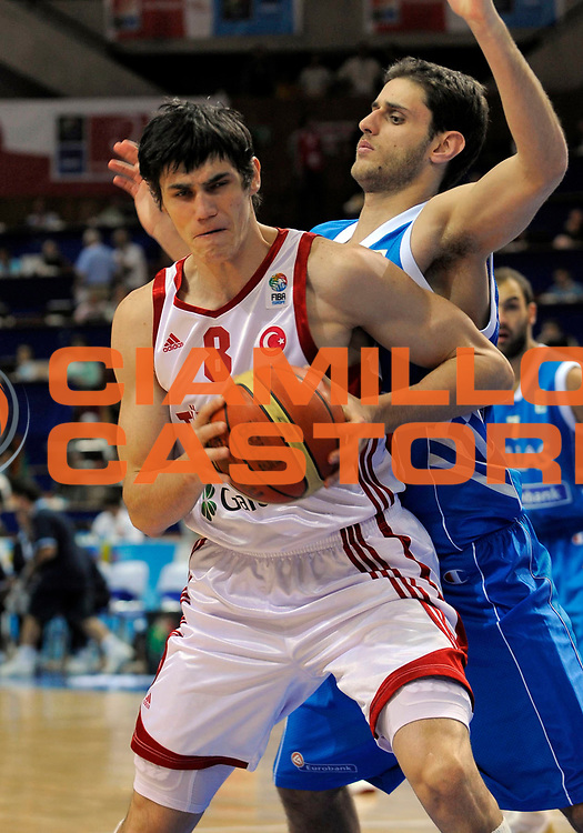 DESCRIZIONE : Katowice Poland Polonia Eurobasket Men 2009 Quarter Final Turchia Turkey Grecia Greece<br /> GIOCATORE : Ersan Ilyasova<br /> SQUADRA : Turchia Turkey<br /> EVENTO : Eurobasket Men 2009<br /> GARA : Turchia Turkey Grecia Greece <br /> DATA : 18/09/2009 <br /> CATEGORIA : <br /> SPORT : Pallacanestro <br /> AUTORE : Agenzia Ciamillo-Castoria/N.Parausic<br /> Galleria : Eurobasket Men 2009 <br /> Fotonotizia : Katowice  Poland Polonia Eurobasket Men 2009 Quarter Final Turchia Turkey Grecia Greece<br /> Predefinita :