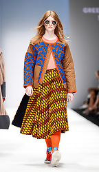 July 3, 2018 - Berlin, Germany - A model presents a Spring/Summer 2019 Greenshowroom selected collection of during the first day of MBFW Berlin Fashion Weak in the ewerk showspace in Berlin, Germany on July 3, 2018. (Credit Image: © Dominika Zarzycka/NurPhoto via ZUMA Press)