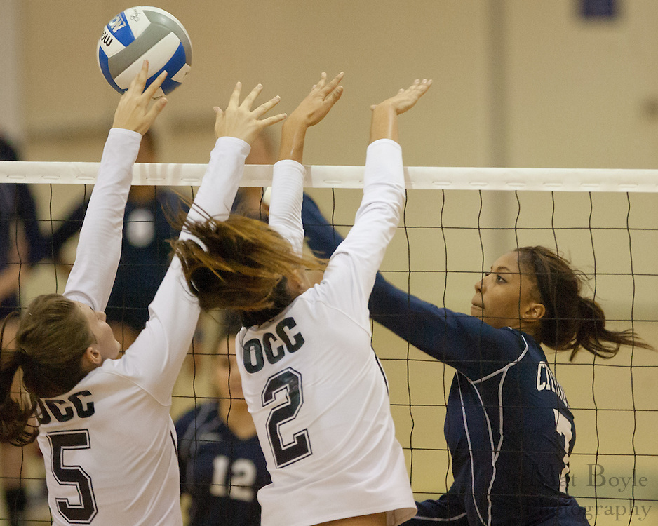 Citrus College Women's Volleyball at Orange Coast College on Friday September 23, 2011.