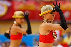 15.08.2010, Logroo, ESP, Friendly Basketball LS, Spain vs Argentia, im Bild Spain's cheerleaders during Friendly match. EXPA Pictures © 2010, PhotoCredit: EXPA/ Alterphotos/ Acero +++++ ATTENTION - OUT OF SPAIN +++++