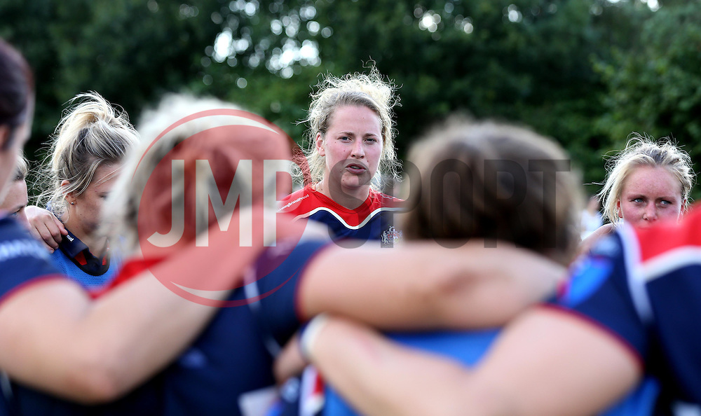 A Reed (c) of Bristol Ladies addresses the players after the win over Aylesford Bulls - Mandatory by-line: Robbie Stephenson/JMP - 18/09/2016 - RUGBY - Cleve RFC - Bristol, England - Bristol Ladies Rugby v Aylesford Bulls Ladies - RFU Women's Premiership