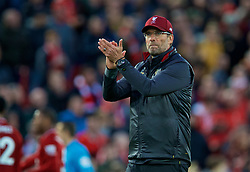 LIVERPOOL, ENGLAND - Sunday, October 7, 2018: Liverpool's manager Jürgen Klopp after the FA Premier League match between Liverpool FC and Manchester City FC at Anfield. The game ended goal-less. (Pic by David Rawcliffe/Propaganda)