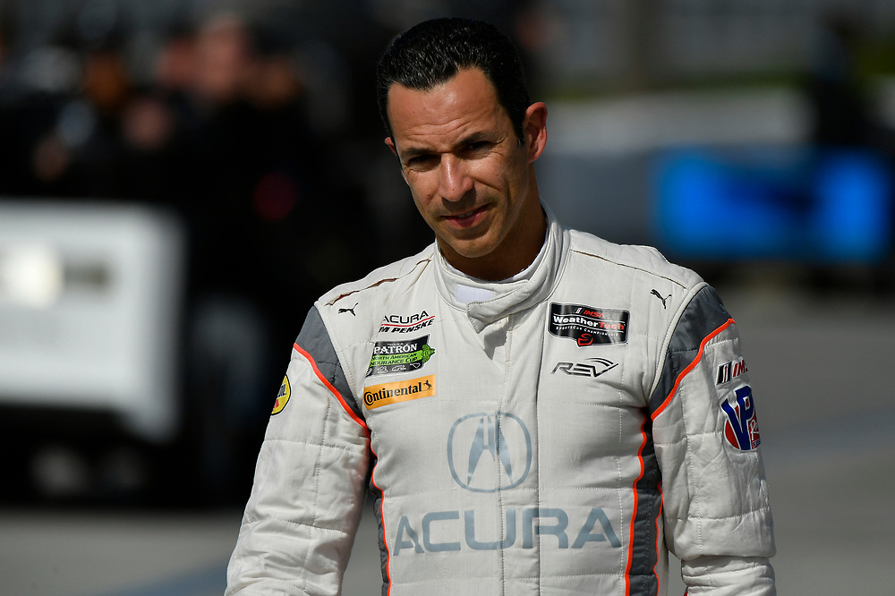Helio Castroneves<br /> Friday 13 April 2018<br /> Toyota Grand Prix of Long Beach<br /> Verizon IndyCar Series<br /> Streets of Long Beach, California USA<br /> World Copyright: Scott R LePage<br /> LAT Images