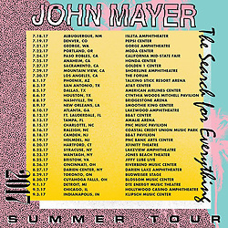 "John Mayer releases a photo on Instagram with the following caption: ""Summer tour! The name of the game is FUN. Picture this: you have an afternoon BBQ, living that amphibious life...then you nap, shower, climb into soft clean clothes and head out with your friends to sing and dance under the stars* while my friends and I have the time I our lives playing for you. Full band! Acoustic! Trio! Bring the love of your life! Or maybe you'll meet them at the show! It's really your business to conduct as you see fit! Tickets at johnmayer.com. *stars not visible at arena shows"". Photo Credit: Instagram *** No USA Distribution *** For Editorial Use Only *** Not to be Published in Books or Photo Books ***  Please note: Fees charged by the agency are for the agency's services only, and do not, nor are they intended to, convey to the user any ownership of Copyright or License in the material. The agency does not claim any ownership including but not limited to Copyright or License in the attached material. By publishing this material you expressly agree to indemnify and to hold the agency and its directors, shareholders and employees harmless from any loss, claims, damages, demands, expenses (including legal fees), or any causes of action or allegation against the agency arising out of or connected in any way with publication of the material."