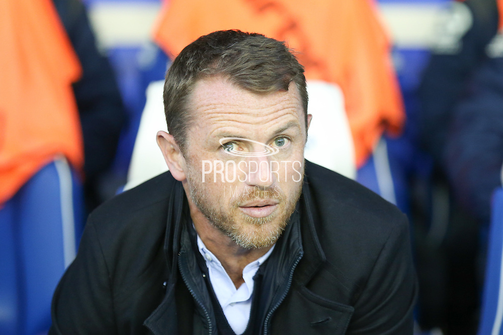 Birmingham City first team manager Gary Rowett  during the Sky Bet Championship match between Birmingham City and Brighton and Hove Albion at St Andrews, Birmingham, England on 5 April 2016. Photo by Simon Davies.