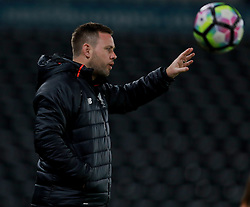 DERBY, ENGLAND - Monday, November 28, 2016: Liverpool's manager Michael Beale during the FA Premier League 2 Under-23 match against Derby County at Pride Park. (Pic by David Rawcliffe/Propaganda)