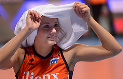 09-01-2016 TUR: European Olympic Qualification Tournament Rusland - Nederland, Ankara<br /> De strijd om Rio of Japan / Nederland moet een ticket voor Rio zien te halen in Japan. Rusland was met 3-1 te sterk / Laura Dijkema #14