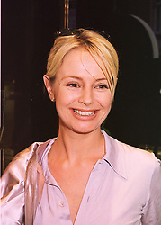TV presenter SAMANTHA NORMAN daughter of fil critic Barry Norman, at a party in London on 22nd April 1998.MGX 27